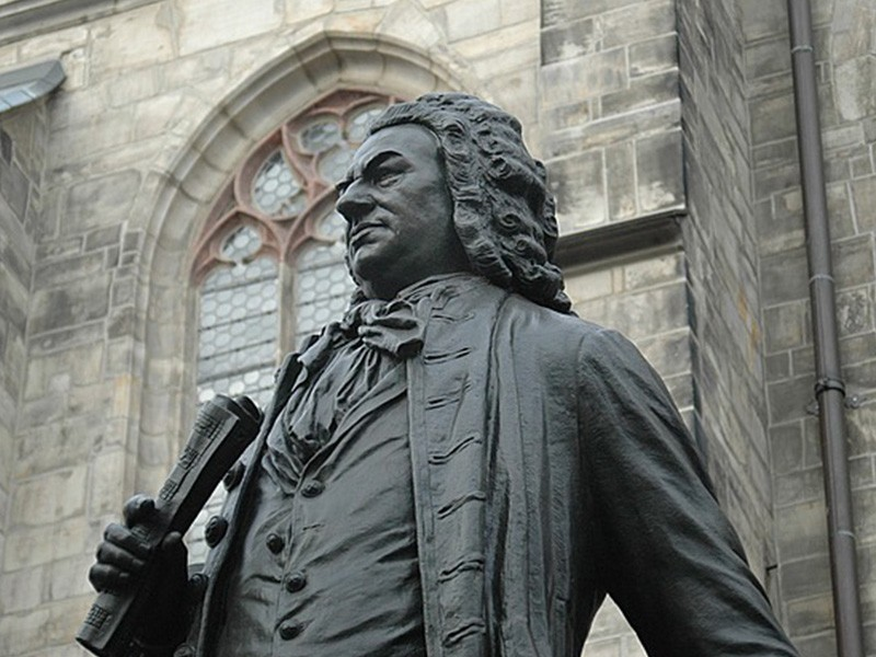 day 5 bach composer music monument bronze leipzig